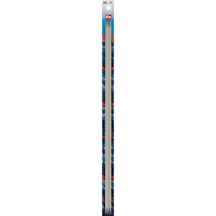Strumpfstricknadeln, 40cm, 3,50mm, perlgrau