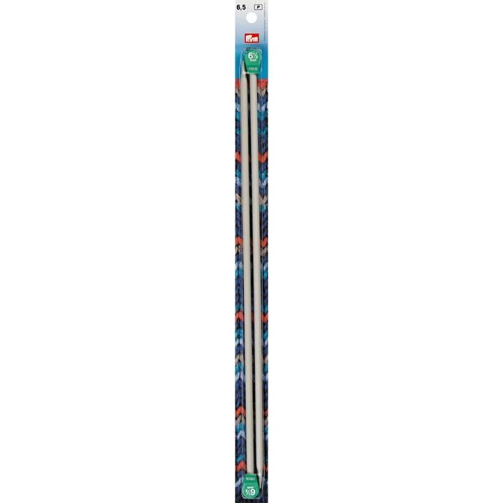 Jackenstricknadeln, Aluminium, 40cm, 6,50mm, grau