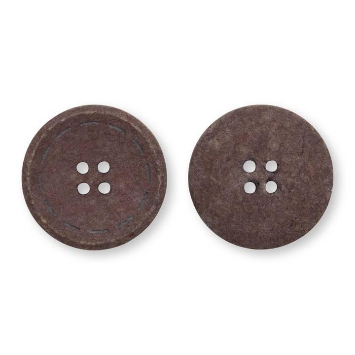 Knöpfe 4-Loch Prym 1530, recycelte Baumwolle, 25mm, dunkelbraun
