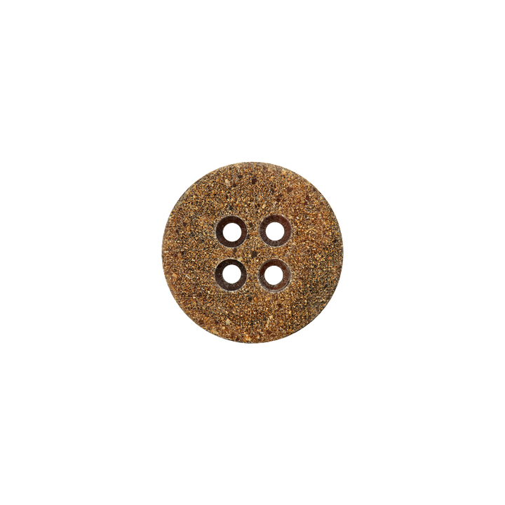 Horn recycelt/Polyesterknopf, 4-Loch