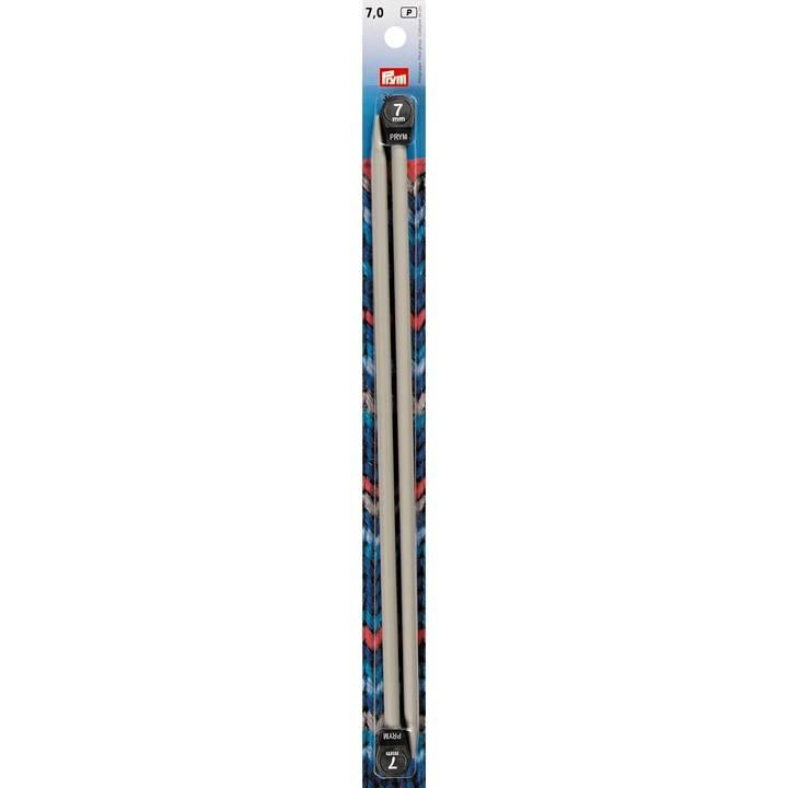 Jackenstricknadeln, Aluminium, 30cm, 7,00mm, grau