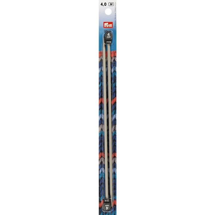 Jackenstricknadeln, Aluminium, 25cm, 4,00mm, grau