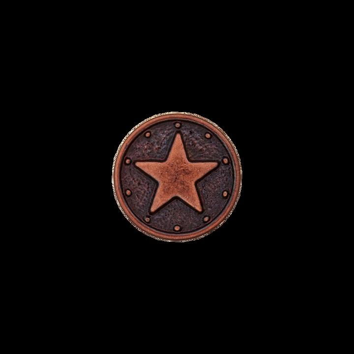 Polyester/Metallknopf Stern