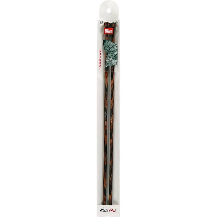 Jackenstricknadeln, Natural, 35cm, 6,00mm
