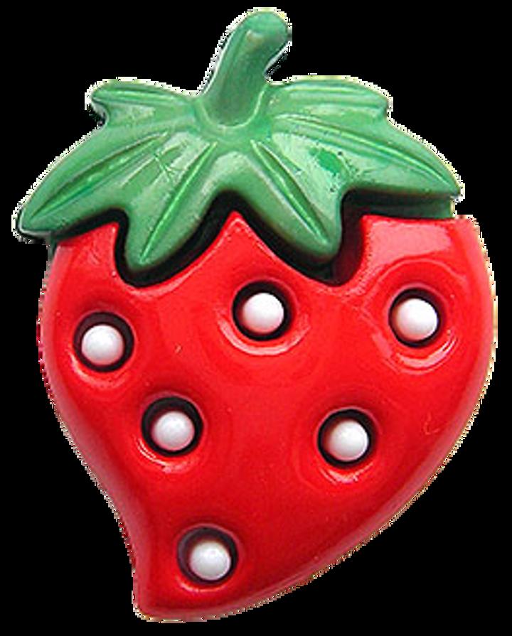 Polyesterknopf Öse Erdbeere