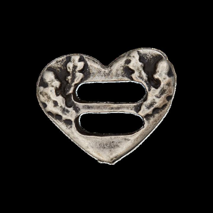 Metallknopf 2-Loch Herz