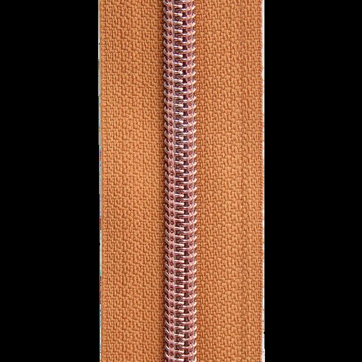 Endlosreißverschluss Kupfer