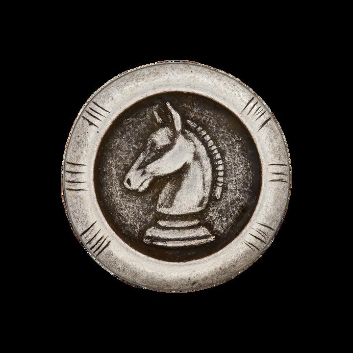 Metallknopf Öse Pferd
