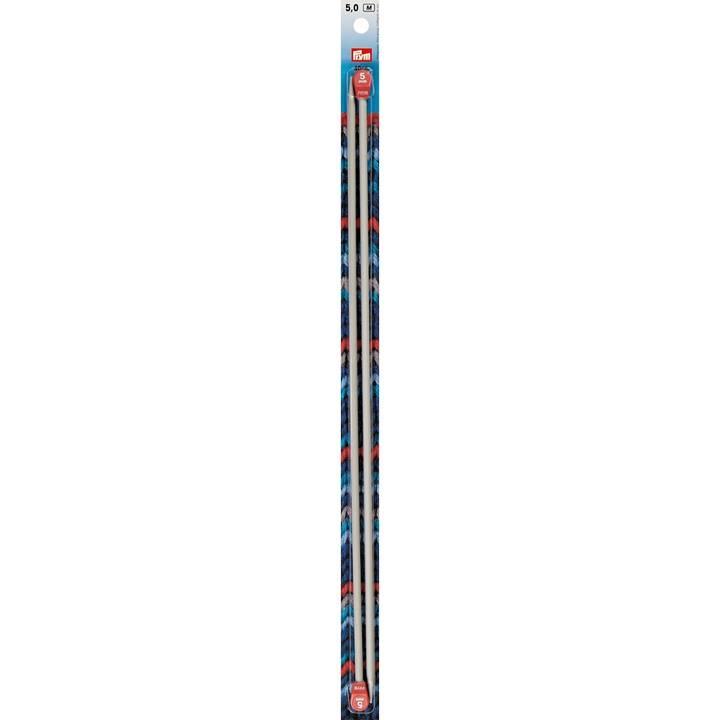 Jackenstricknadeln, Aluminium, 40cm, 5,00mm, grau