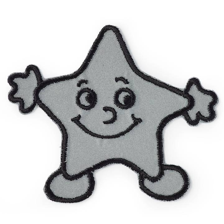 Applikation selbstklebend und aufügelbar, Stern