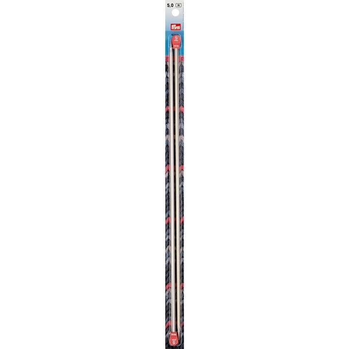 Jackenstricknadeln, Aluminium, 40cm, 5,00mm, silberfarbig