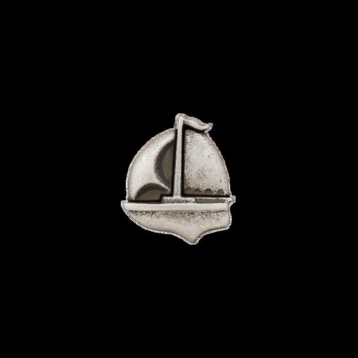 Polyesterknopf metallisiert Boot