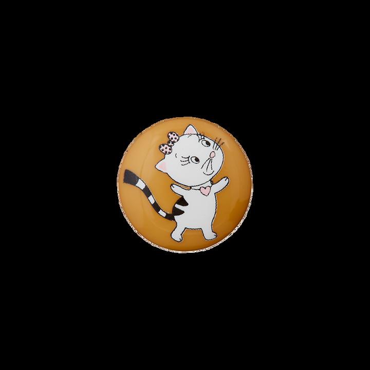 Polyesterknopf Öse Katze Miau