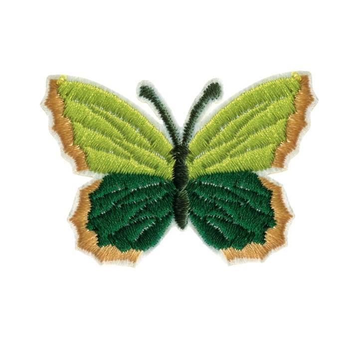 Applikation recycelt, Schmetterling, grün