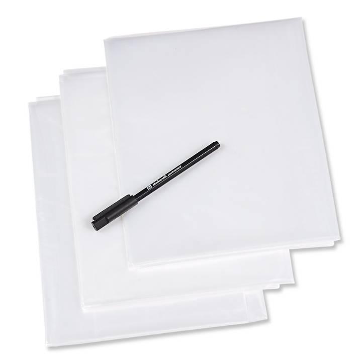 Schnittmusterfolien, mit Stift