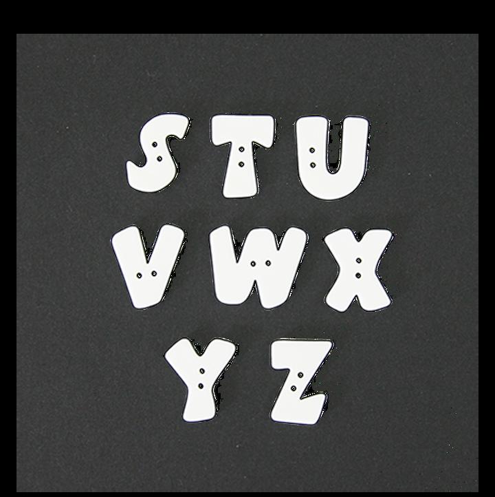 Buchstabenknopf