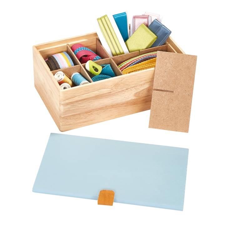 Sortimentsbox Holz S blau