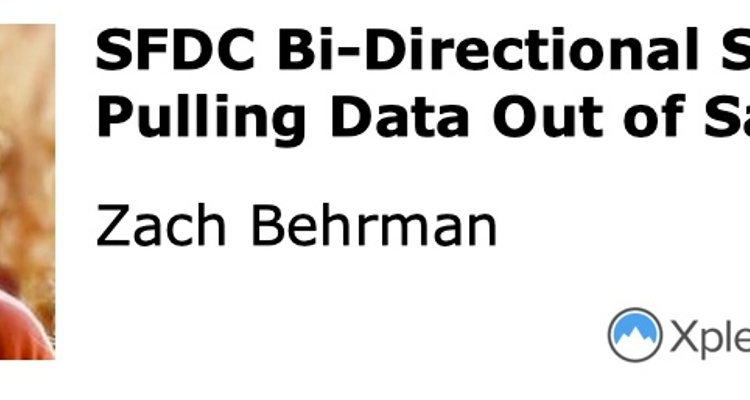 SFDC Bi-Directional Sync: Pulling Data Out of Salesforce