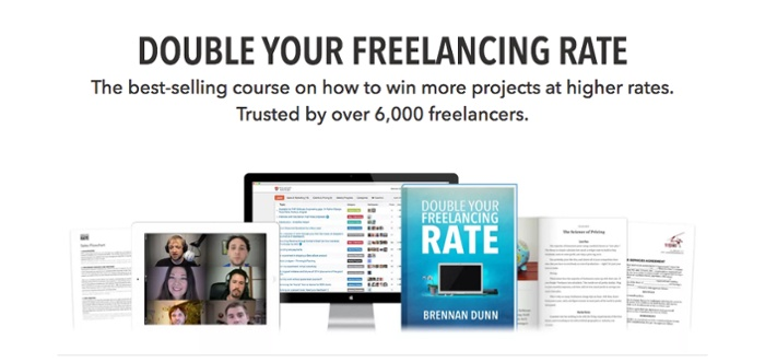double your freelancing rate, brennan dunn