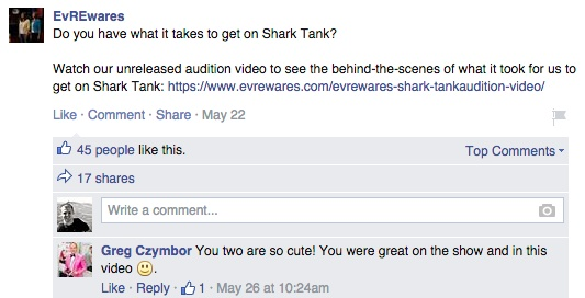 scot smith shark tank facebook post