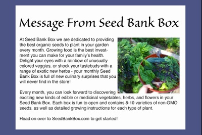 Seed Bank Box Photo 2