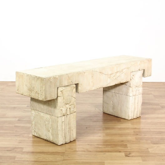Palm Springs Chic Composition Console Table Loveseat Vintage Furniture Los Angeles