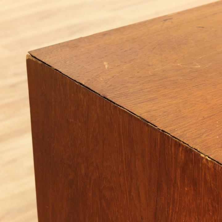 Danish modern teak file cabinet w key loveseat vintage for Danish modern la