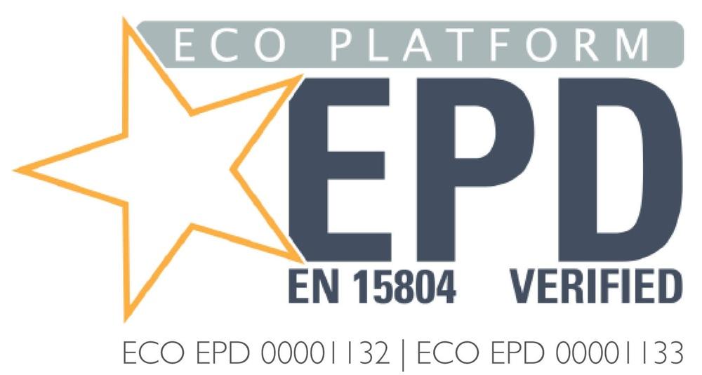 ECO Platform-logo som vi har på våra produkter som är EPD-verifierade.