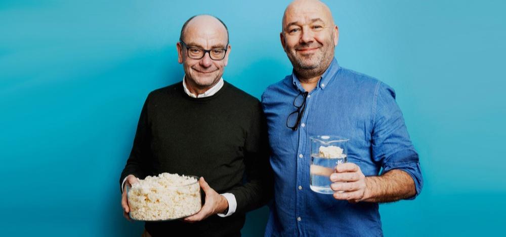 Lars-Erik Sjögren, vd på Biosorbe och Erik Josephsson, försäljningschef och en av grundarna till Biosorbe gör sig redo att ta nästa steg med sin klimatsmarta oljeabsorbent.
