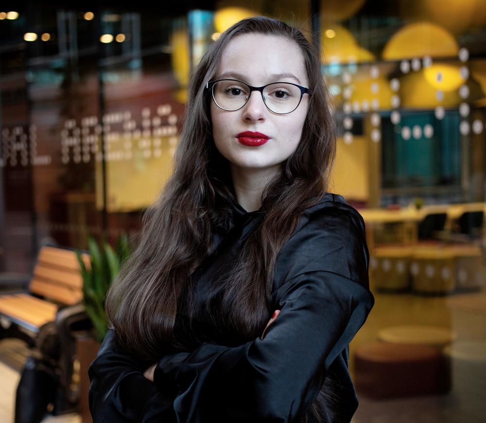 Lilian Helgason, ordförande för Sveriges Elevråd. Foto: Edvin Johansson
