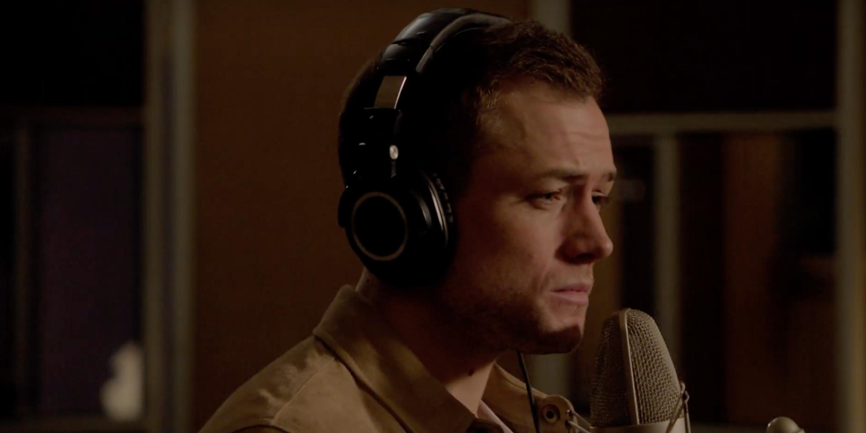 Taron Egerton nails Elton John's 'Rocket Man' for biopic soundtrack – watch