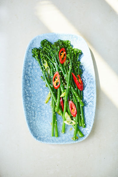 Development chef at the Botanist, Mark York, says Tenderstem side dishes are a hit with customers