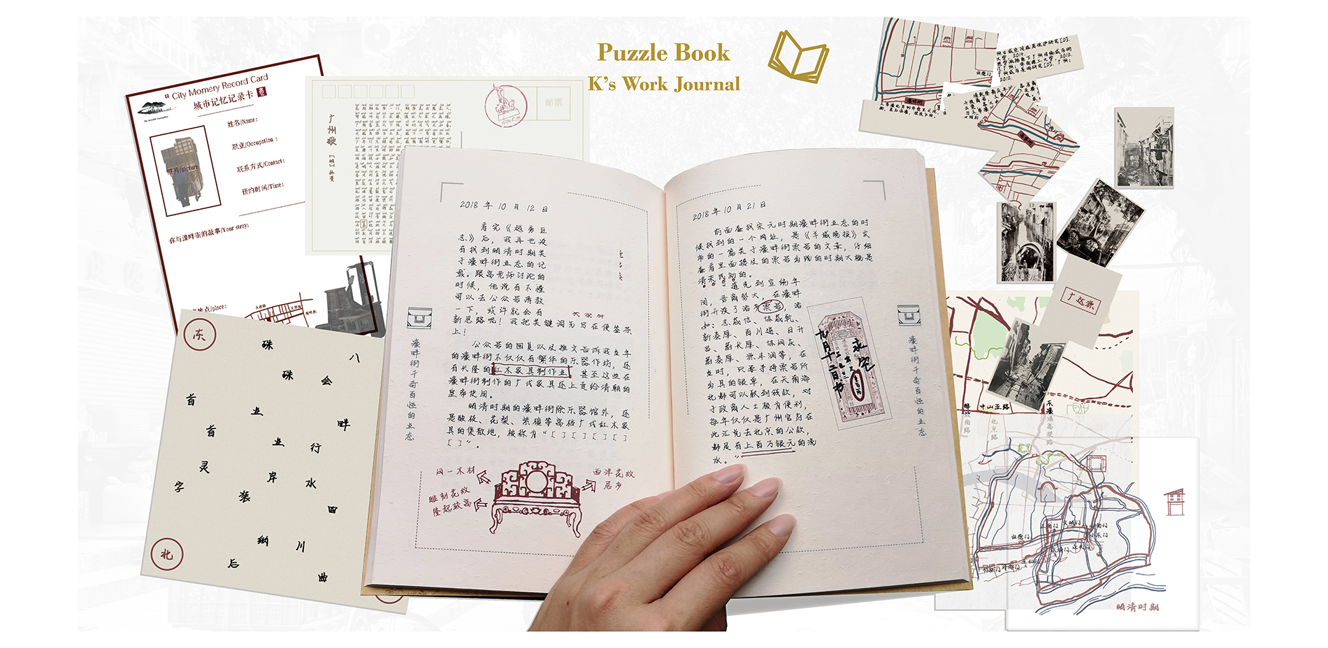Disseminating the Historic Environment Information Offline: Puzzle Book---K's Work Journal