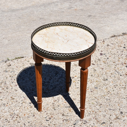 ... Watchthetrailerfo Small Vintage Round 3 Leg Display Decorator Table  Loveseat Vintage Previous Watchthetrailerfo ...
