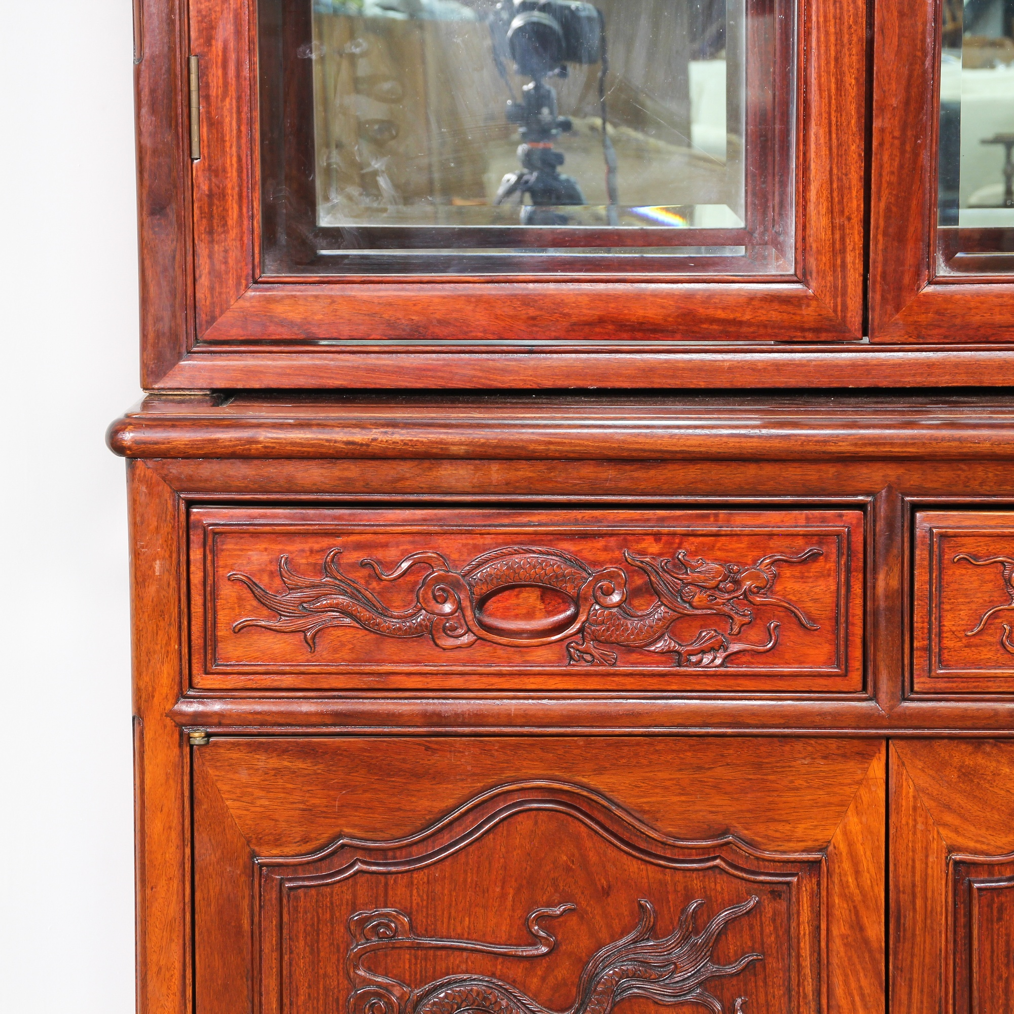 asian rosewood carved large china cabinet loveseat vintage furniture san diego los angeles. Black Bedroom Furniture Sets. Home Design Ideas