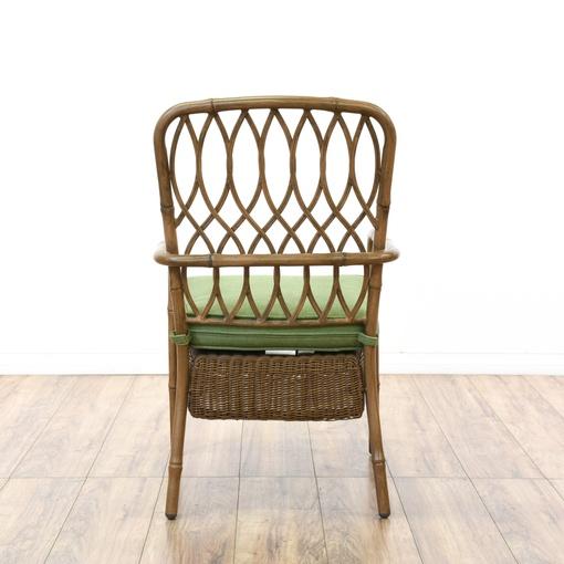 Set Of 4 Quot Hampton Bay Quot Wicker Amp Metal Patio Chairs