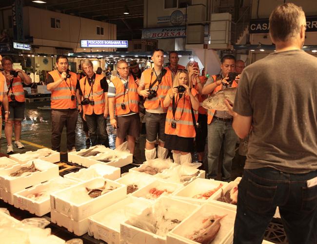 Mercamadrid fish and meat market