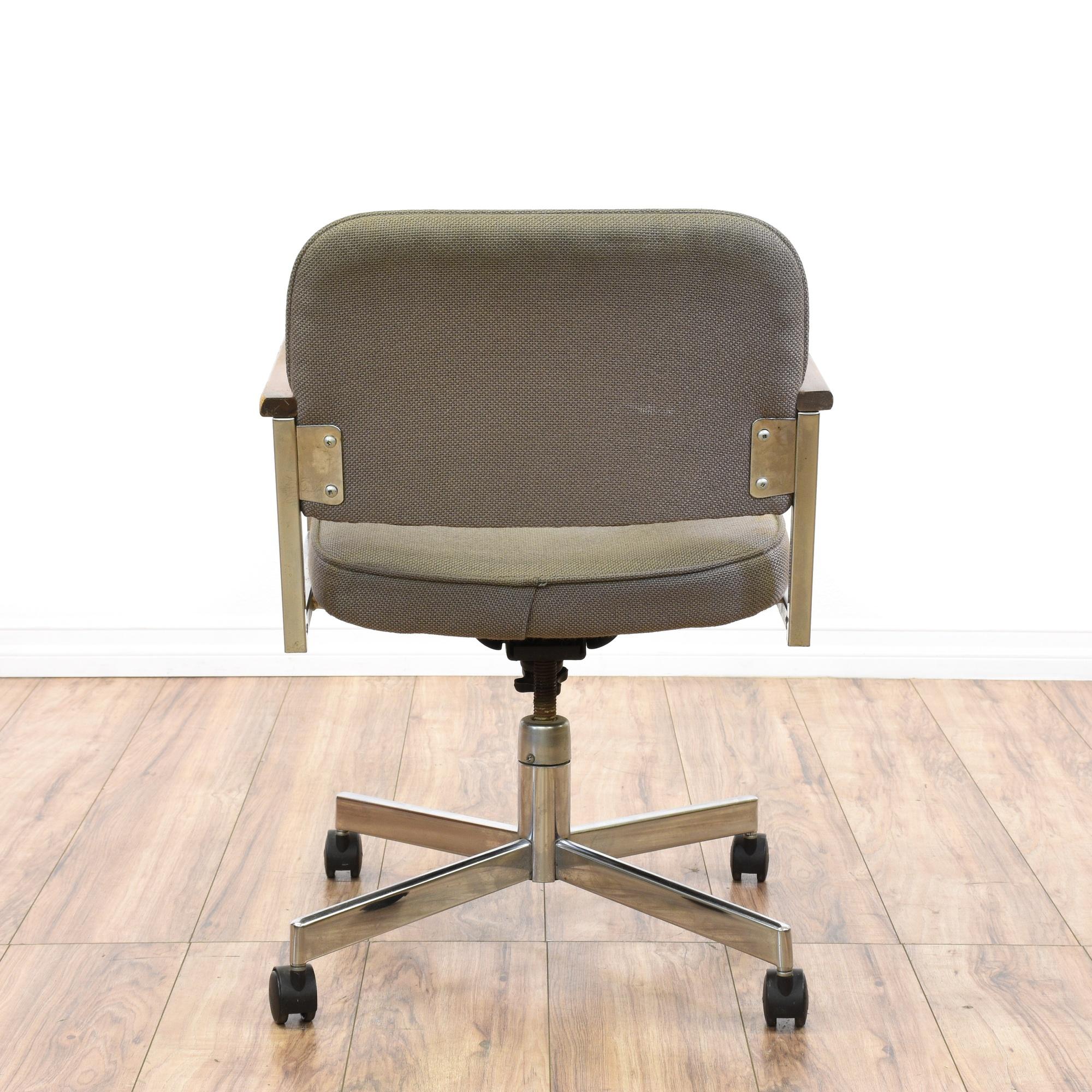 mid century modern chrome office swivel chair loveseat vintage furniture san diego los angeles. Black Bedroom Furniture Sets. Home Design Ideas