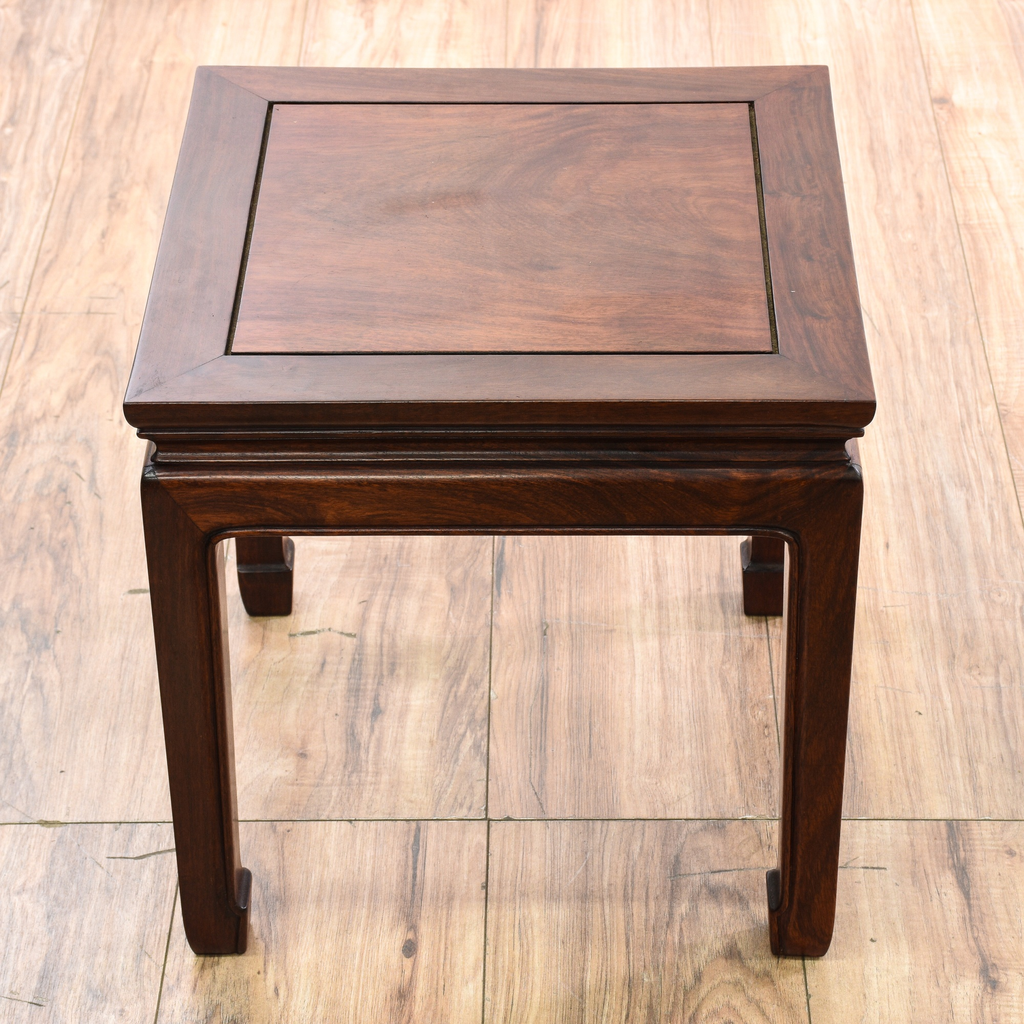 Solid Rosewood Asian Square End Table Loveseat Vintage Furniture San Diego Los Angeles