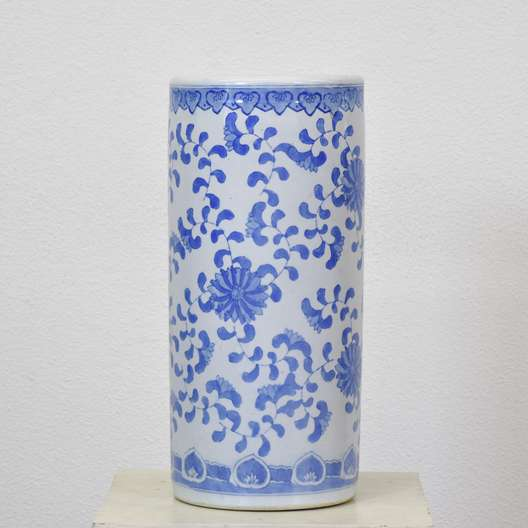 Blue & White Floral Ceramic Umbrella Stand