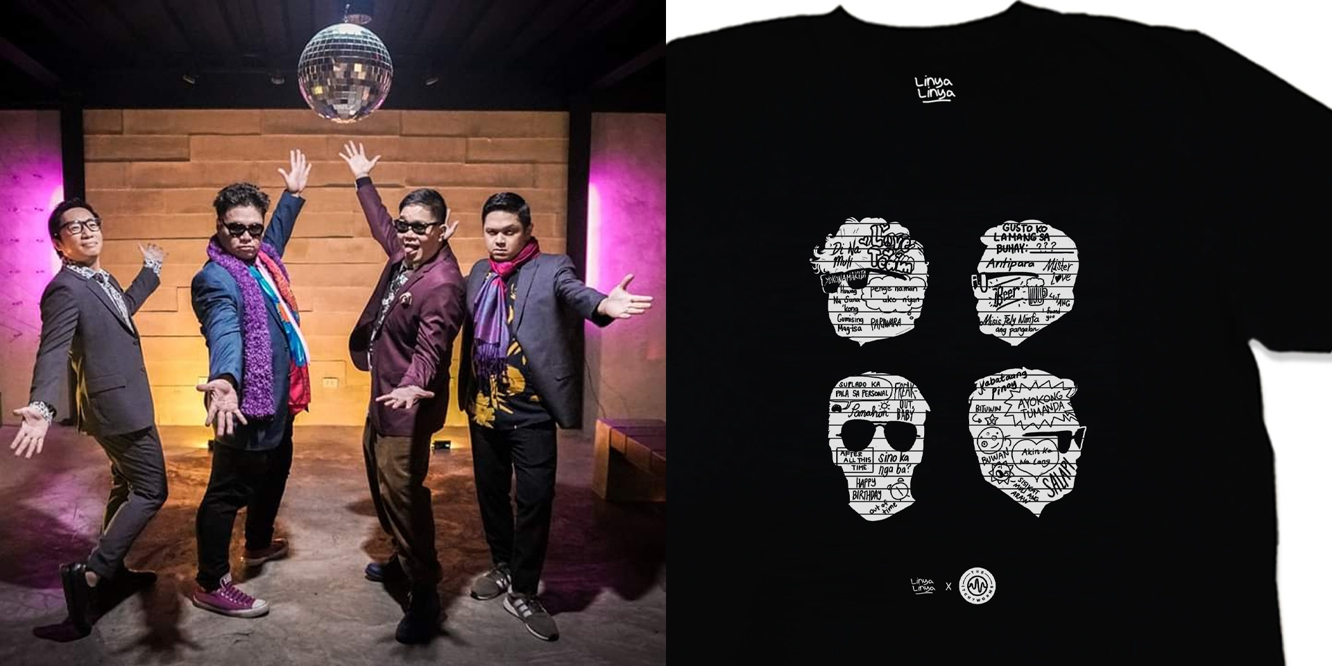 The Itchyworms release 20th anniversary shirt with Linya-Linya