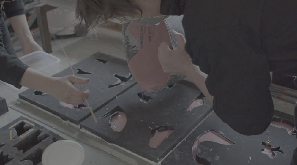 Construction process of 'Studio Ossidiana: Utomhusverket 2021'. Image: Kyulim Kim
