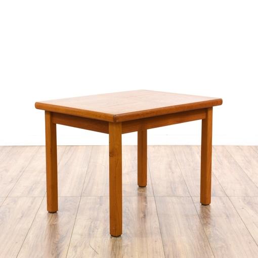 Danish modern teak end table loveseat vintage furniture for Danish modern la