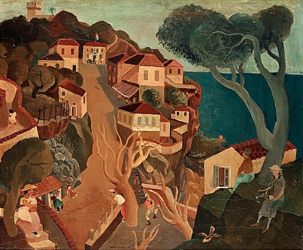 """Bertil Bull Hedlunds """"Från franska rivieran"""" är ett av alla verk som inte skyddas av upphovsrätt efter nyåret."""
