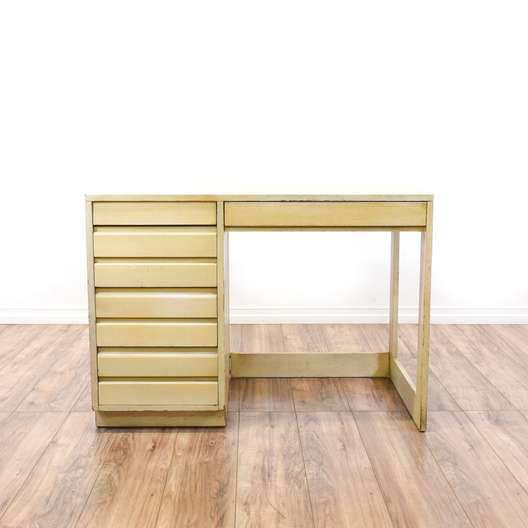 "Mid Century ""Sligh"" Blonde Wood Desk"