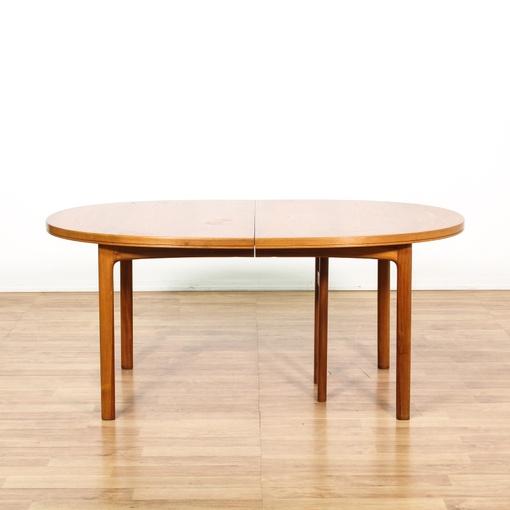 mid century modern oval dining table w leaves loveseat vintage