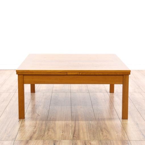 Danish modern teak coffee table w leaves loveseat for Danish modern la