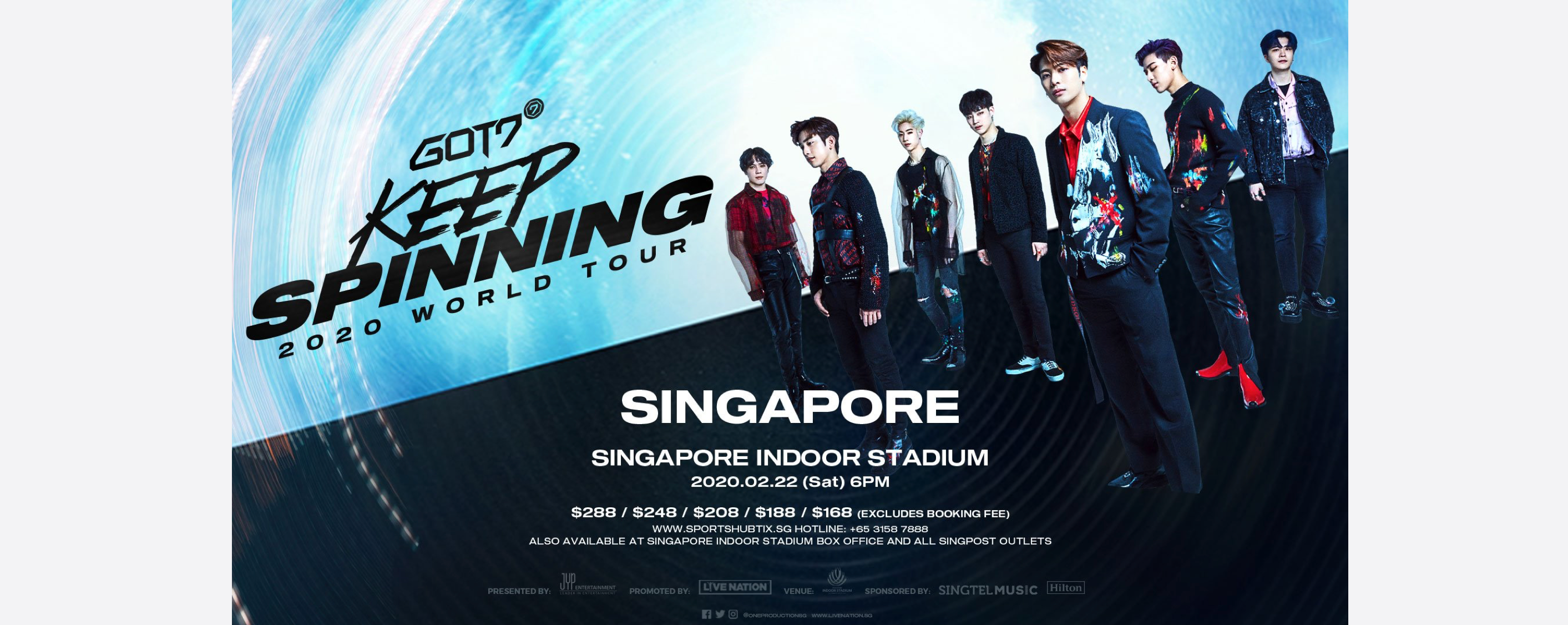 [CANCELLED] GOT7 2020 World Tour 'Keep Spinning' in Singapore