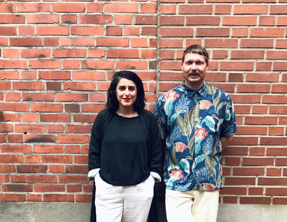 Hanieh Heidarabadi (arkitekt och formgivare) och Daniel Tjäder (musiker och kulturproducent).
