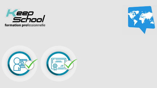 Représentation de la formation : Arabe Certification PIPPLET FLEX : 100% cours particuliers en visio (30h)